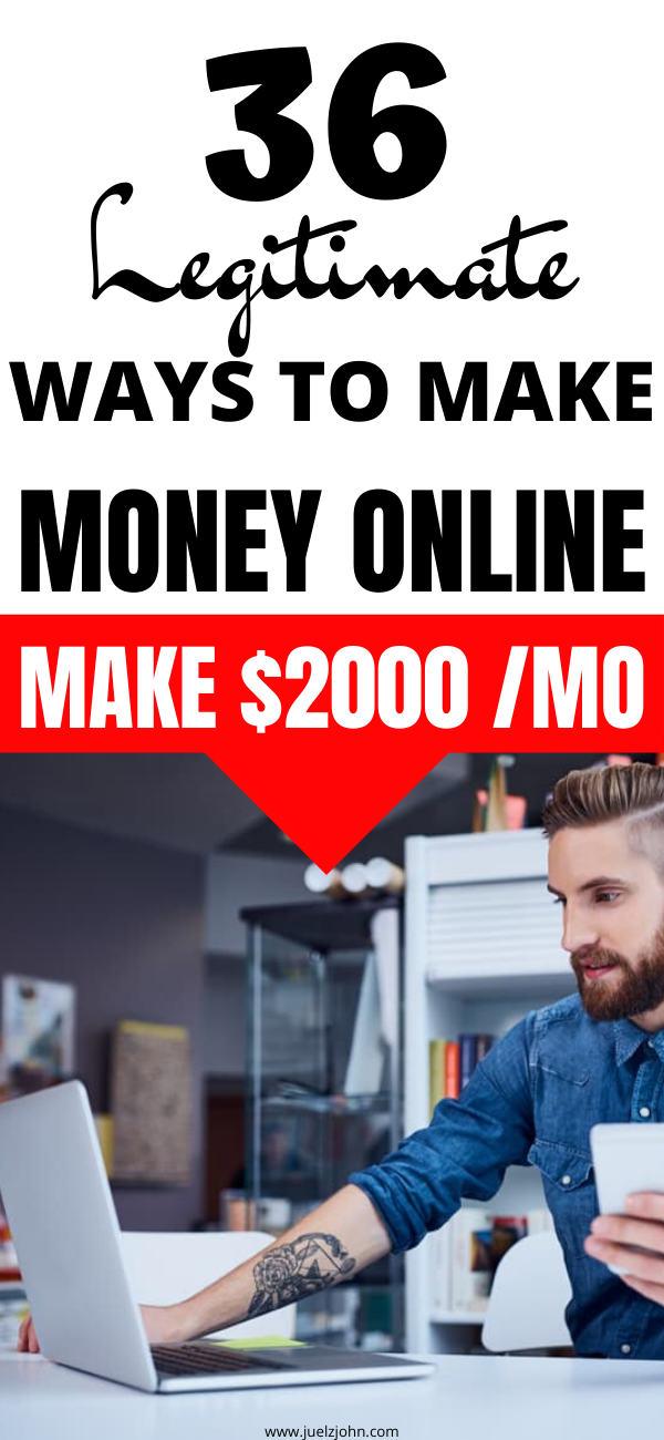 36 Creative ways to make money online from home with no prior experience - juelzjohn