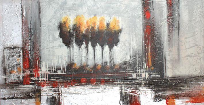 Quadro astratto moderno: 146 dipinto a mano con rilievi effetti ...