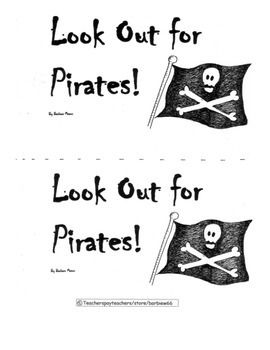 Pirate Theme Pack: Kindergarten Common Core Aligned 26
