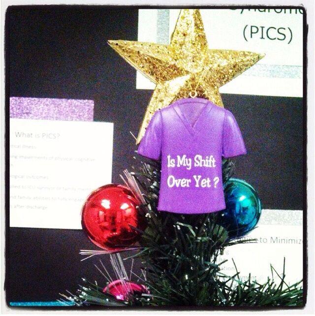 Medical Christmas Tree: Nurses Christmas Ornament, Christmas Tree Topper. Nurse