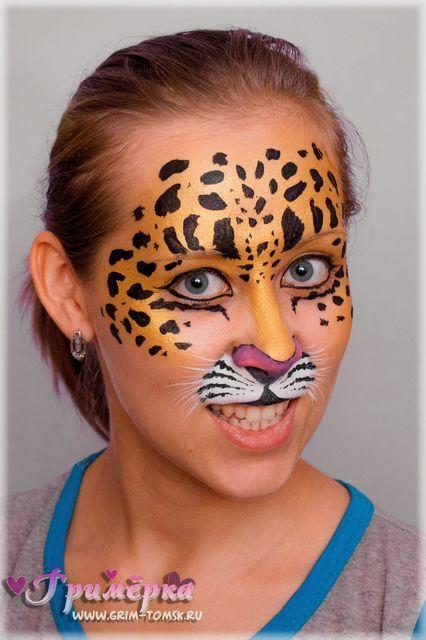 Аквагрим, грим, леопард face painting, make-up, leopard ...