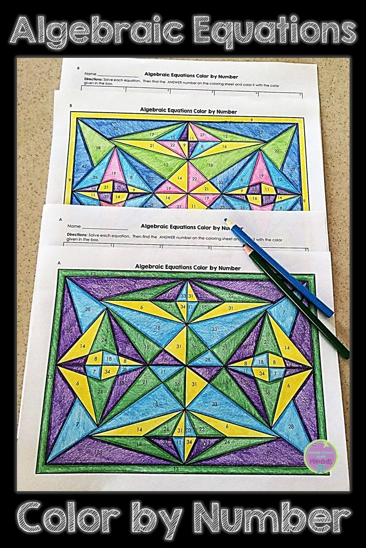 Algebraic Equations Color By Number Is An Engaging Activity To Help Your Students Practice Algebraic Equations Algebra Worksheets Algebra Equations Equations [ 1099 x 734 Pixel ]