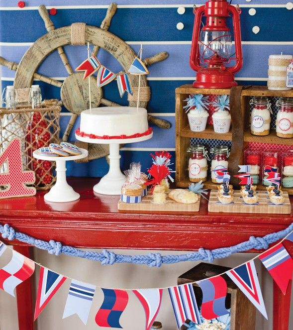 July 4th Party Dessert Table Nautical Party