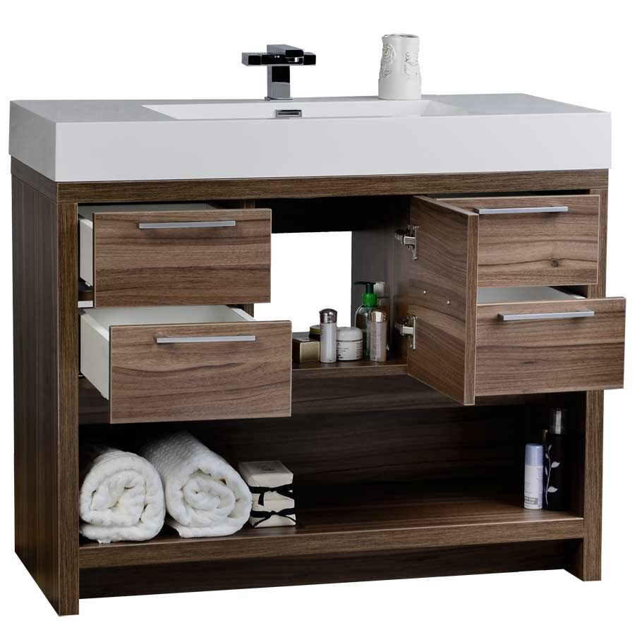 Charmant Bellaterra Home Single Sink Bathroom Vanity Soft Close Intended For Sizing  1000 X 1000 Bathroom Vanity Cabinet 40   Earlier Bathroom Cabinets Or Me