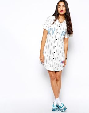 17fd16e97641 Hype Baseball Button Up T-Shirt Dress | Style:Sporty | Shirts, Shirt ...