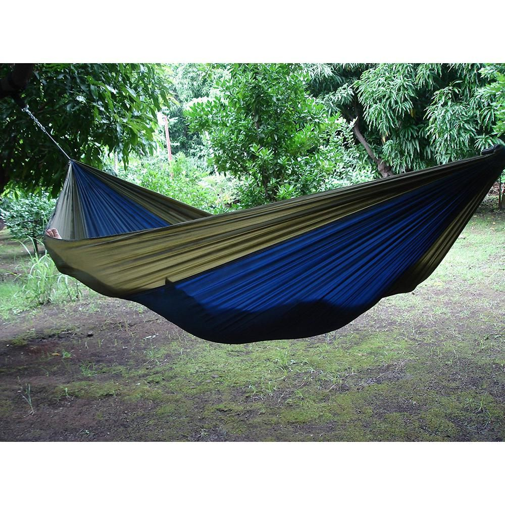 Vivere 10 Ft Parachute Double Hammock In Navy Olive Par21 Double Hammock Parachute Hammock Hammock