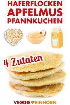 Haferflocken-Apfelmus-Pfannkuchen | vegan - |