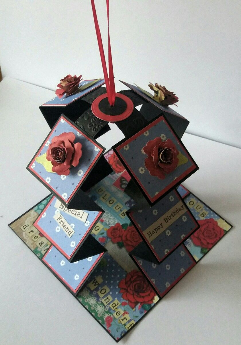 A Lantern Or Pull Up Card Great Tutorial On Pinterest By Mixed Up