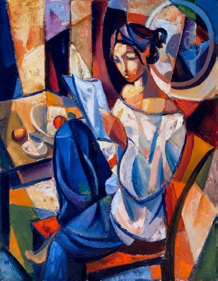 Hennie Niemann Jr Repinned By Ellery Adams Elleryadamsmysteries Com Reading Art Cubist Art Art