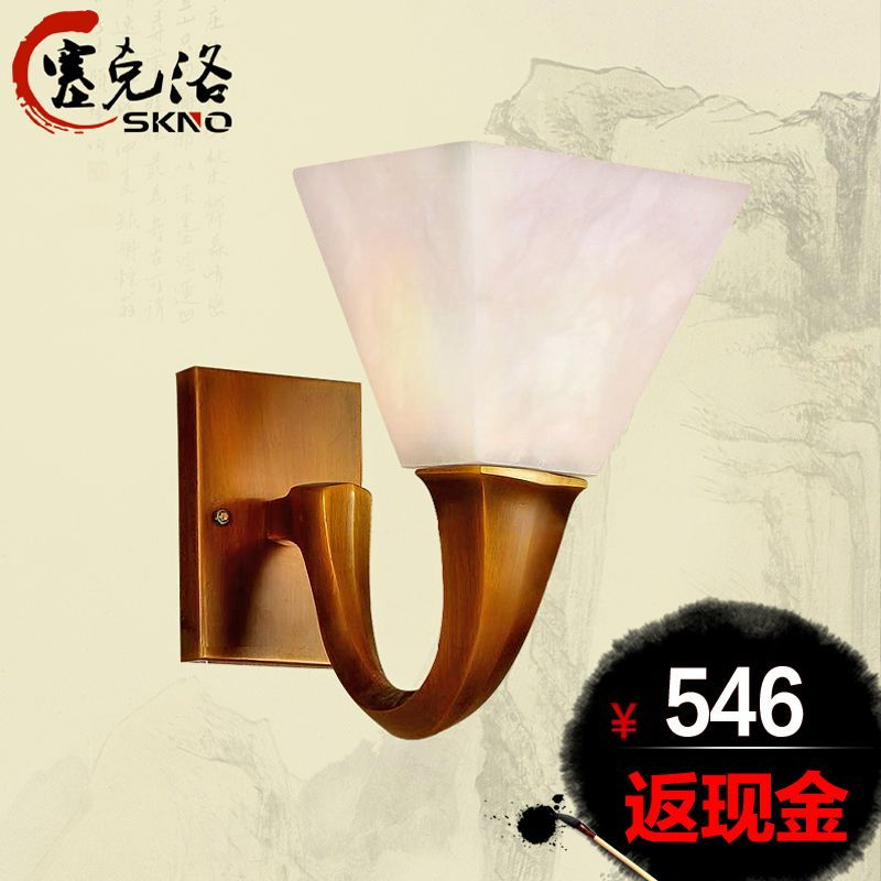 Lampes De Cuivre De Lampe En Marbre Mode Balcon Feux Lampe De Mur De Tete Simple China Mainland Copper Wall Light Copper Wall Wall Lights