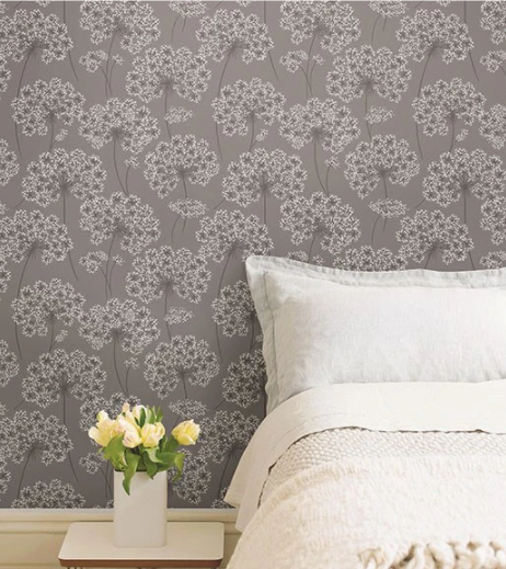 Angelica Grey Peel And Stick Wallpaper Nuwallpaper Subtle Wallpaper Peel And Stick Wallpaper