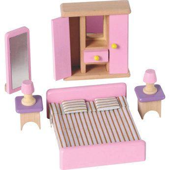 Nice Wooden Dolls House Bedroom Furniture