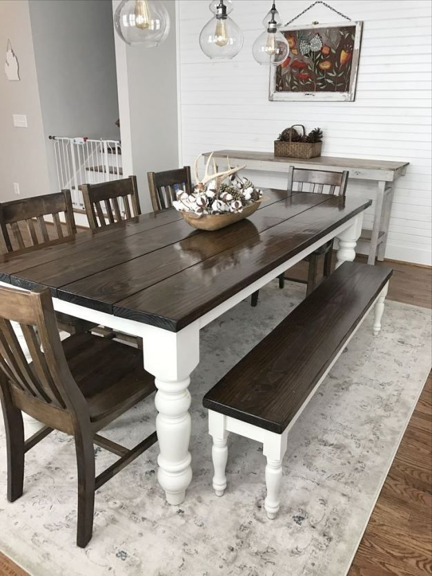 image result for espresso farmhouse dining table with leaf farmhouse style dining room on boho chic dining room kitchen dining tables id=44330