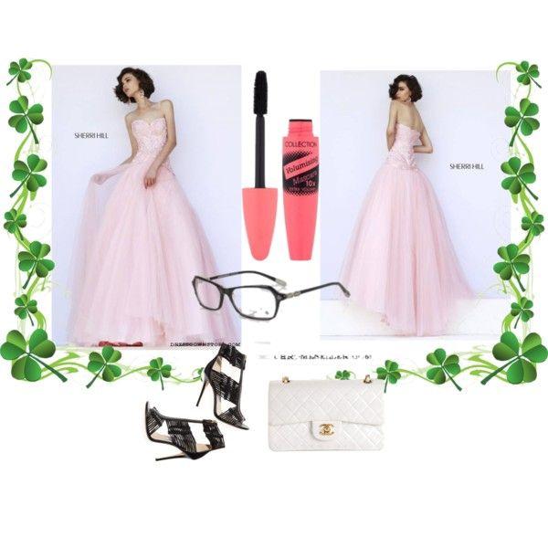 Sherri Hill 32137 Blush Long Strapless Prom Dress by dressgownstore on  Polyvore featuring Sherri Hill,