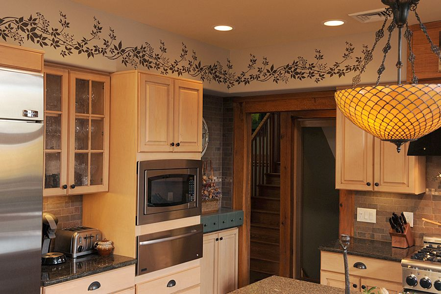 Kitchen Stenciled Border Beautiful Wall Stencils By Cutt Flickr
