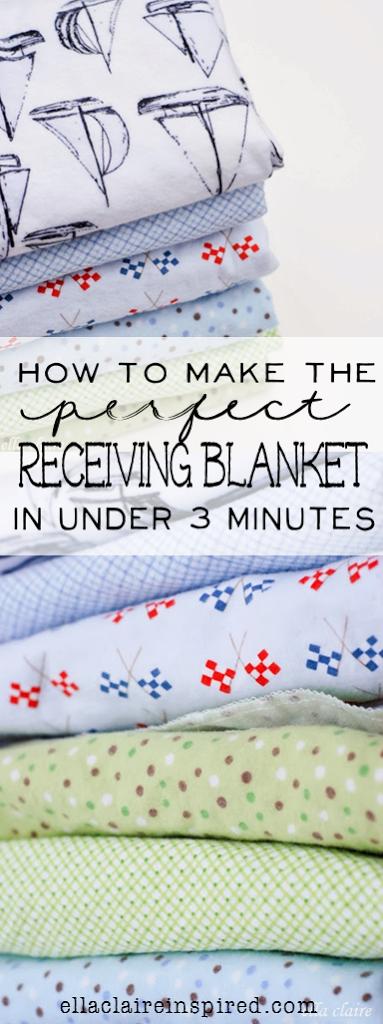 Cómo hacer la manta receptora perfecta en menos de 3 minutos - Ella Claire