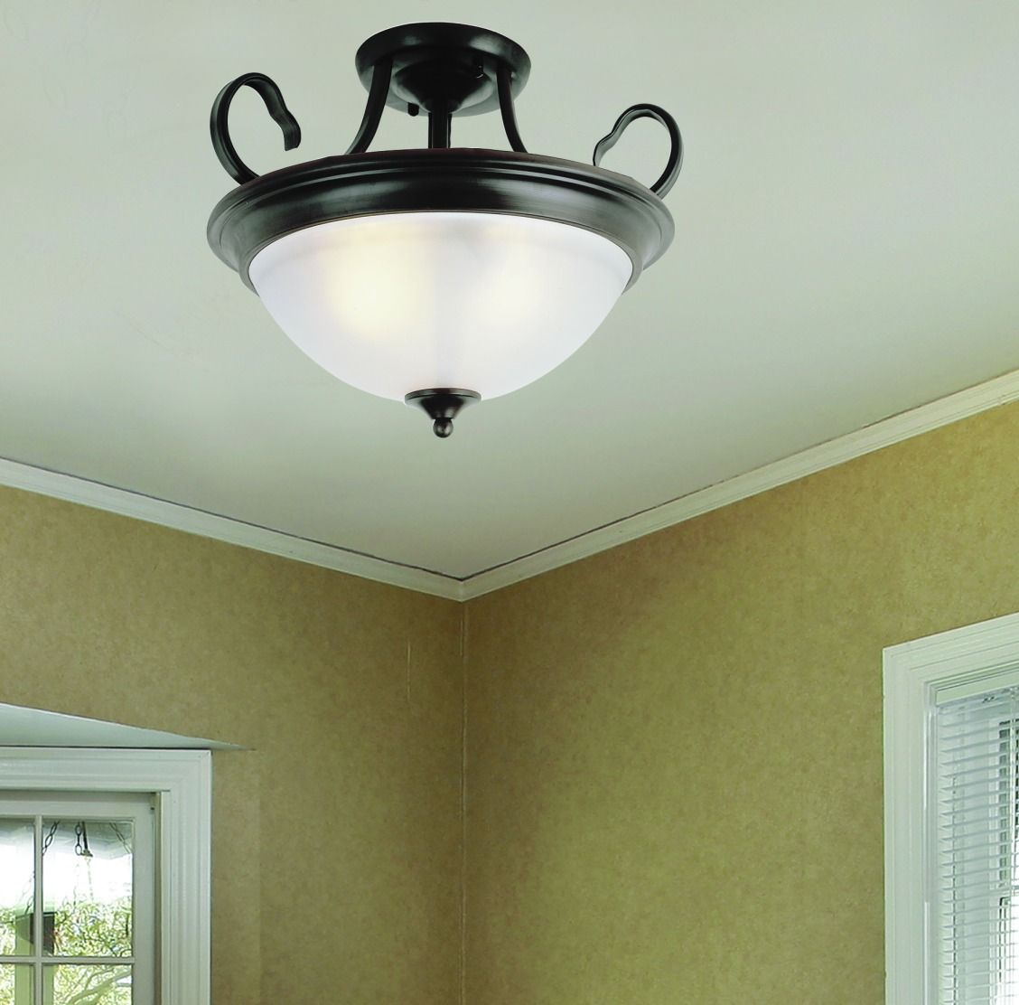 Patriot lighting arabella semi flush ceiling light with oil rubbed