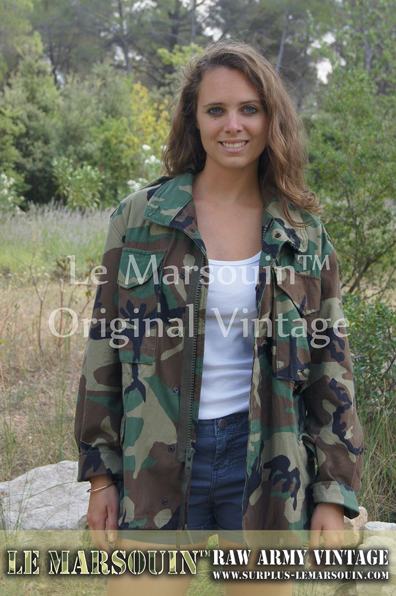 Veste militaire americaine femme