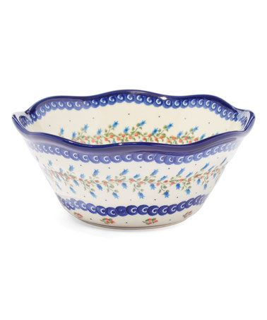 Love this Scalloped Bluebell Fala Bowl on #zulily! #zulilyfinds