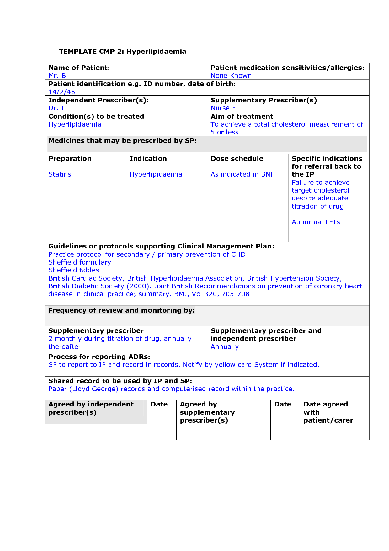 Nursing Student Drug Card Template