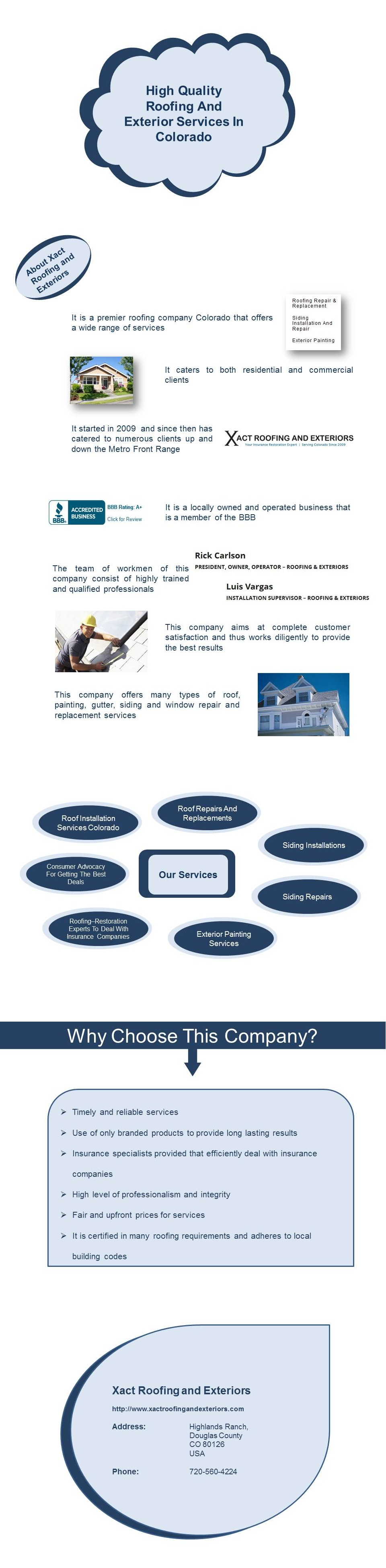 Xact Roofing And Exteriors Is A Premier Roofing Company Colorado That Offers A Wide Range Of Services It Started In 2 Roofing Window Repair Roofing Companies