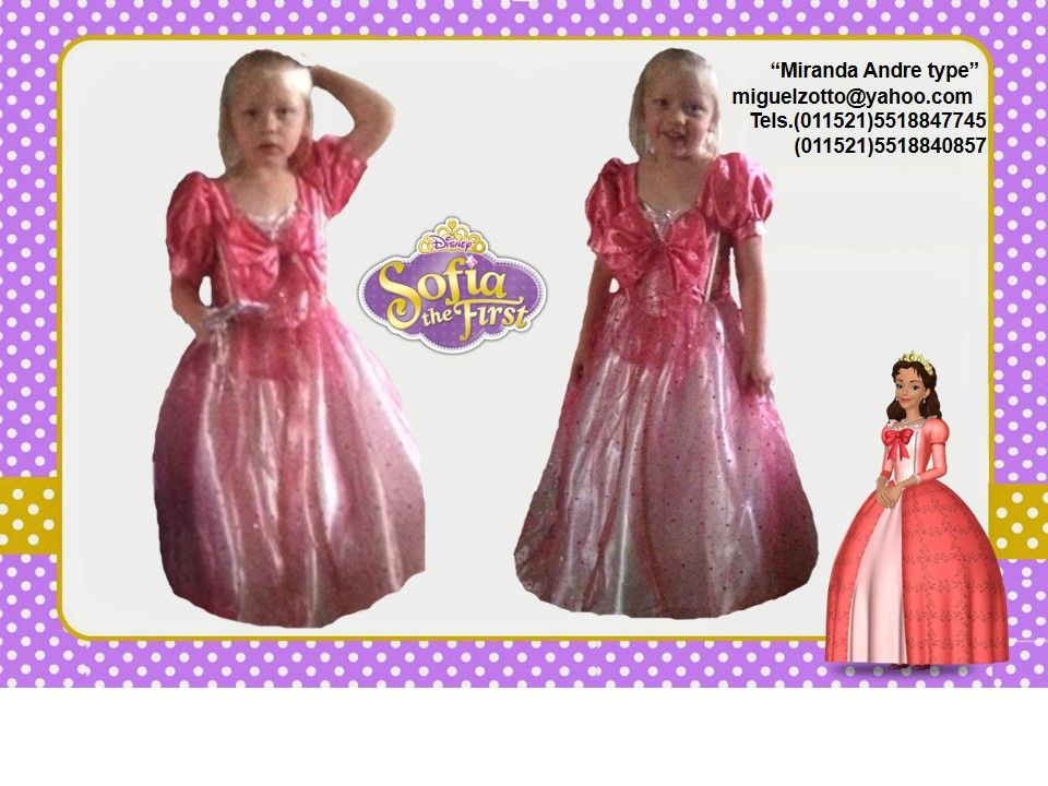 New Girls dress party Disney kids adults toddler Halloween mother of Sofia  the First 2 3
