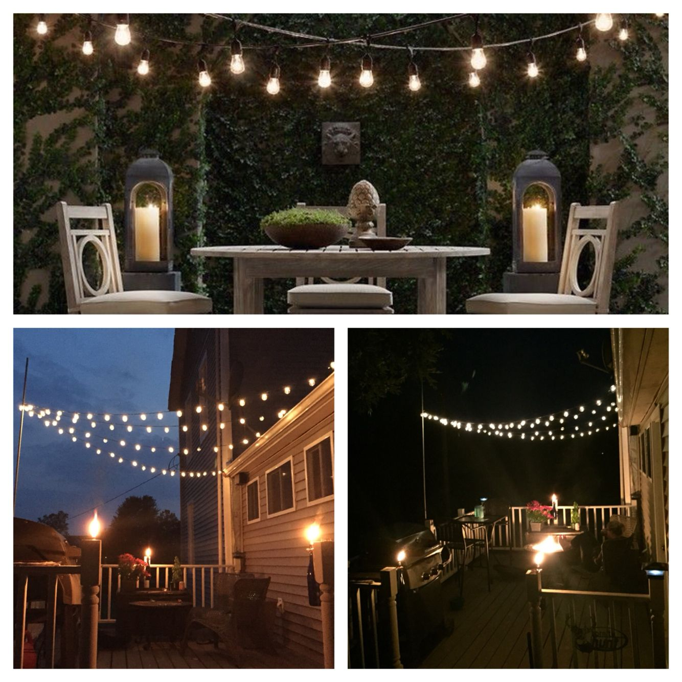 lighting tiki torches. Bottom Pics Finished Deck With Edison String Lights, Wine Bottle Tiki Torches, Fire And Bistro Table. Lighting Torches A