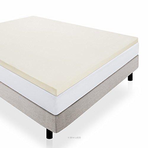 Lucid 2 Inch Foam Mattress Topper Queen Size 3 Year Warranty
