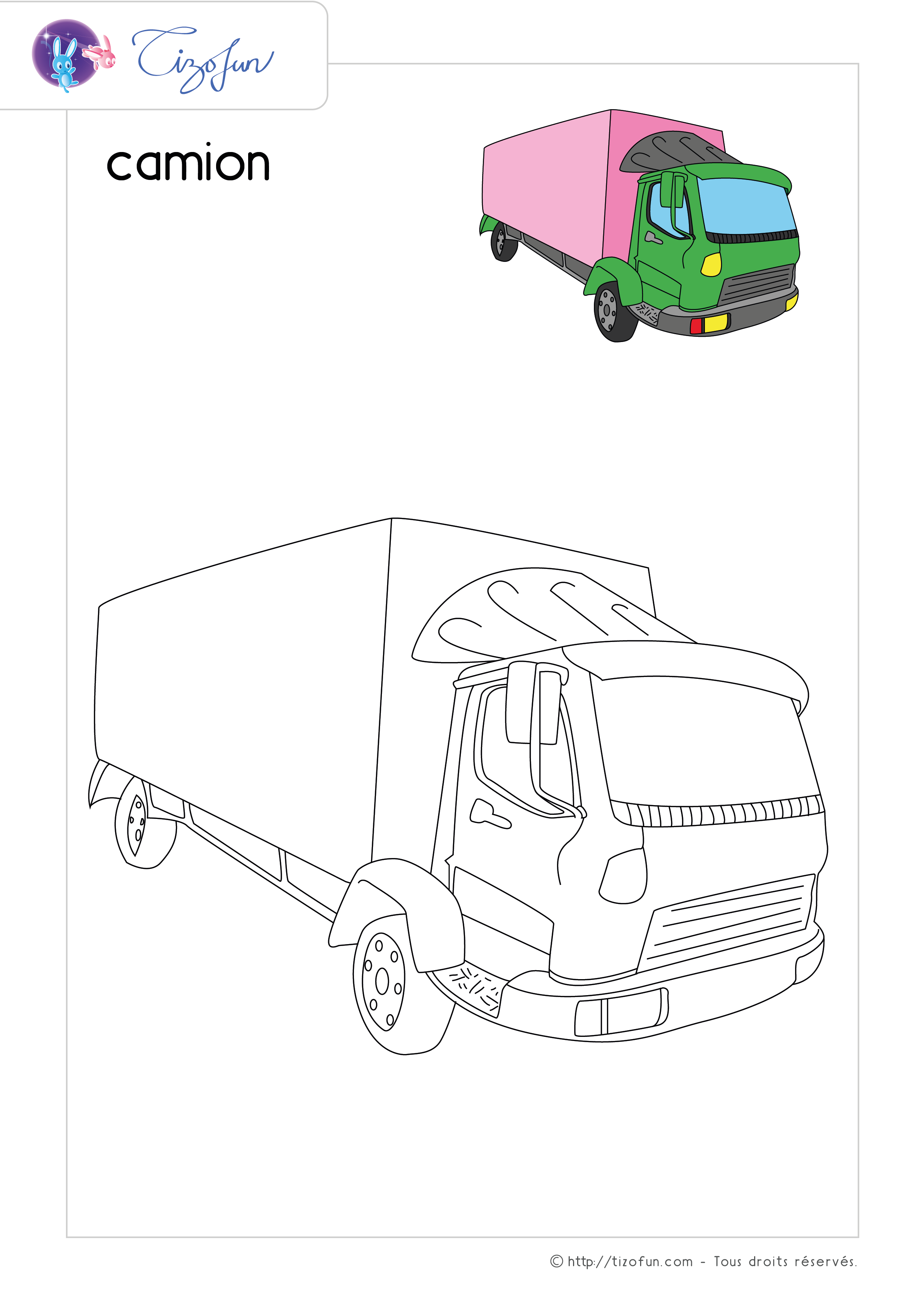 Coloriage Transport Dessin Camion Ovi Közlekedés Dessin