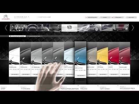 Point de ventes Citroen équipé de configurateurs tactiles connectés
