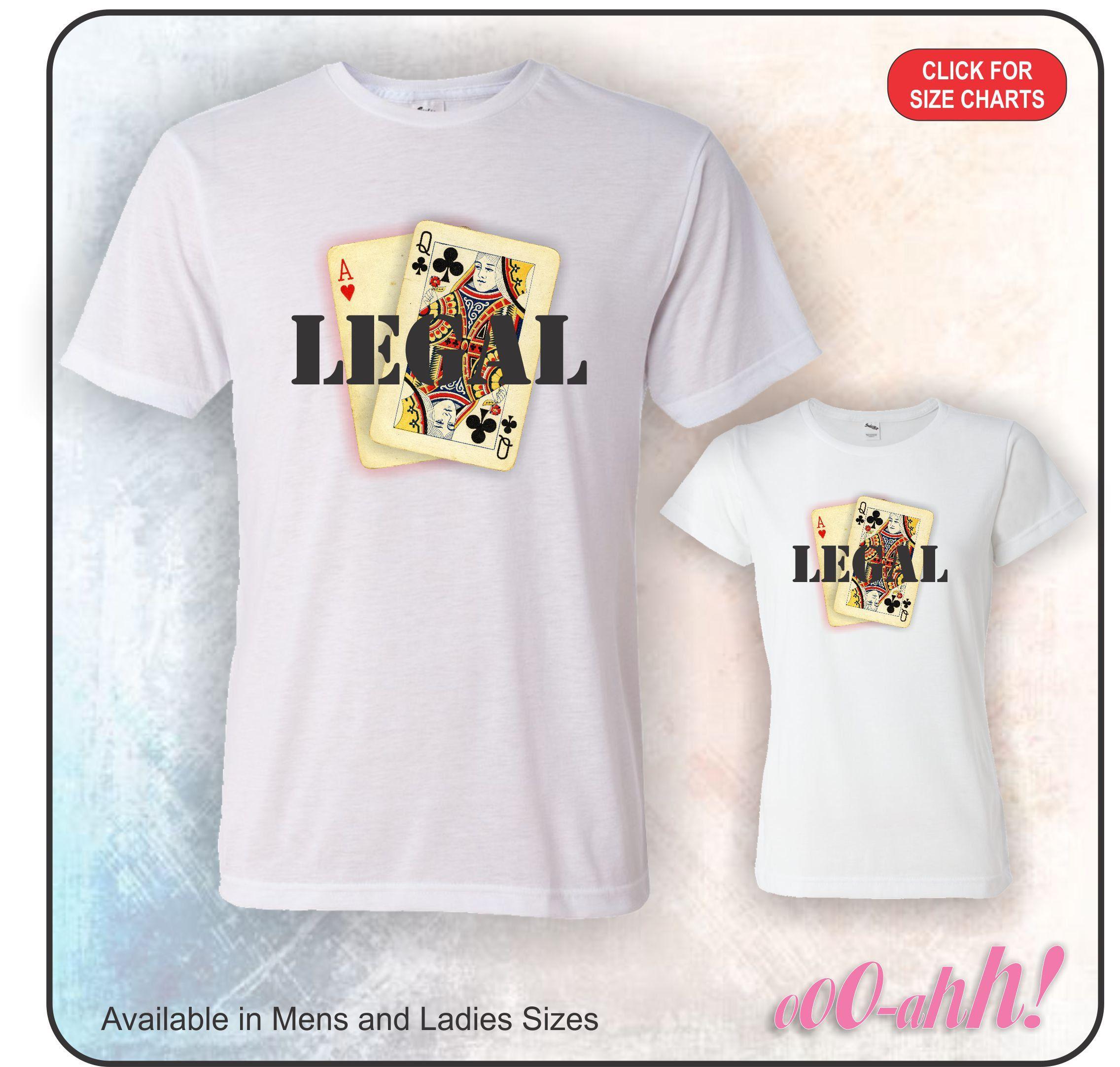 21st birthday legal playing cards funny tshirt full