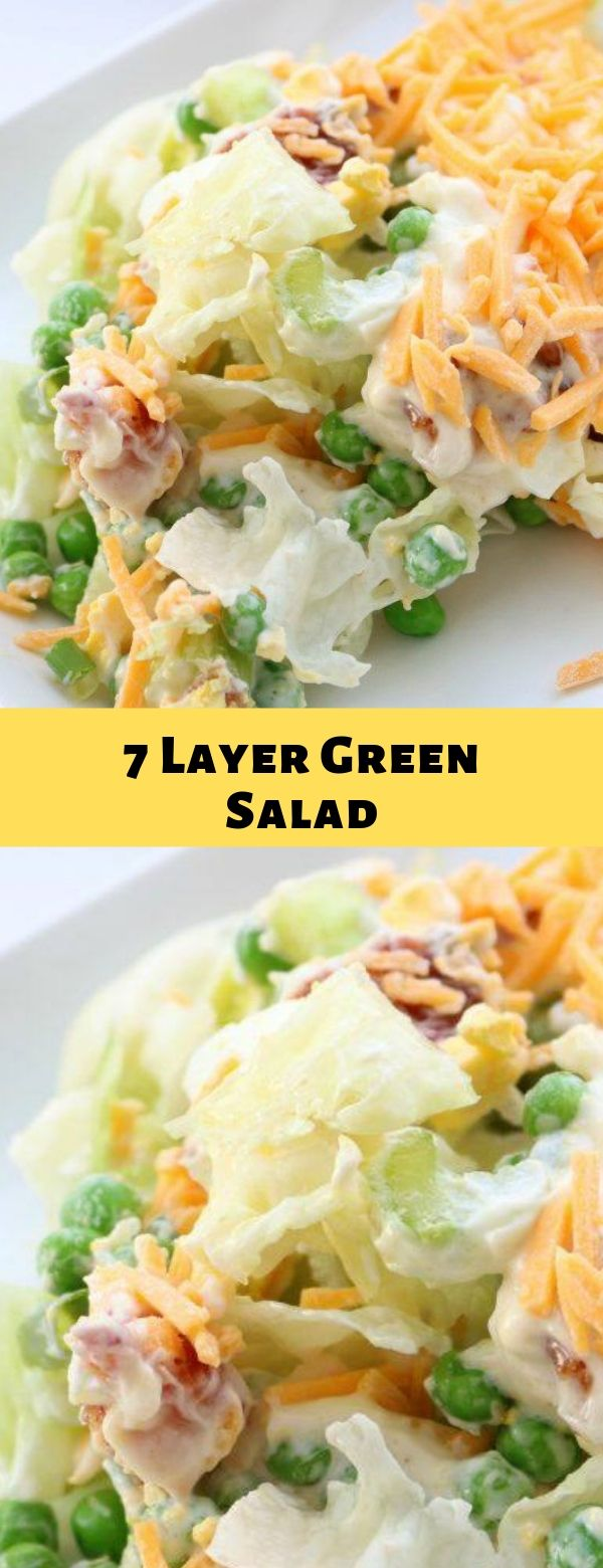 7 Layer Green Salad Layered Salad Recipes Green Salad Recipes Seven Layer Salad