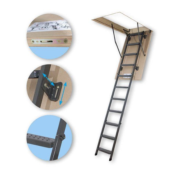 Fakro 66867 Lms Insulated Attic Ladder At Atg Stores Attic Remodel Attic Ladder Attic Lighting