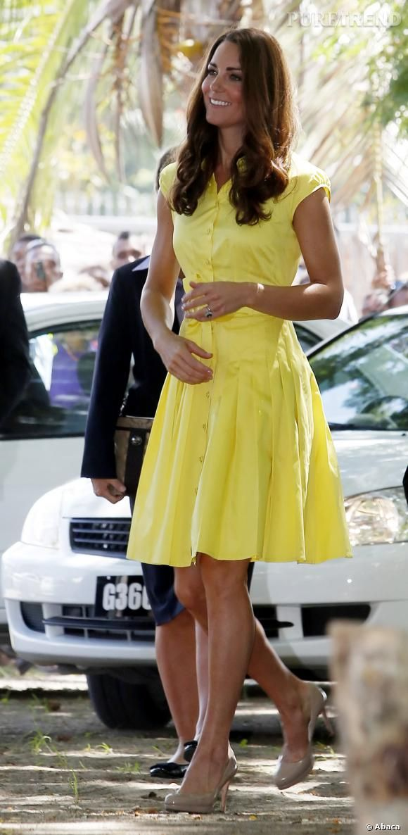 Kate middleton en robe jaune