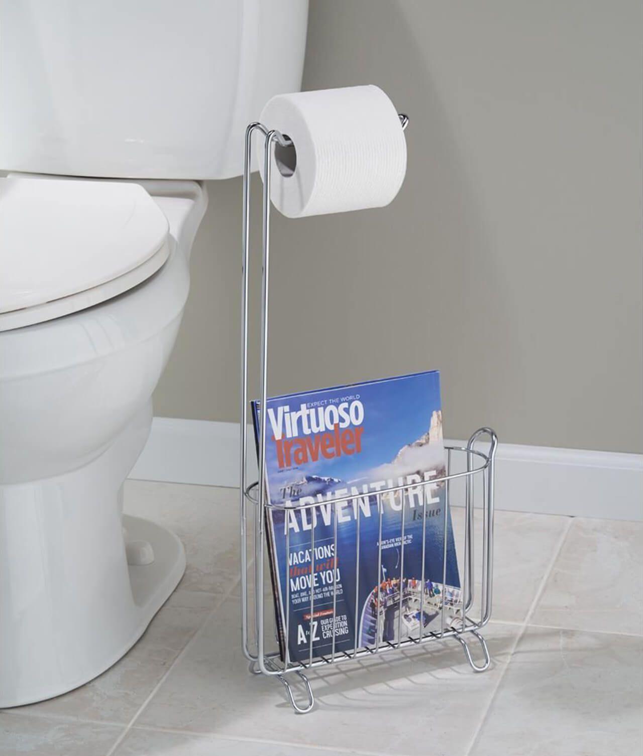 bathroom storage stand toilet roll holder