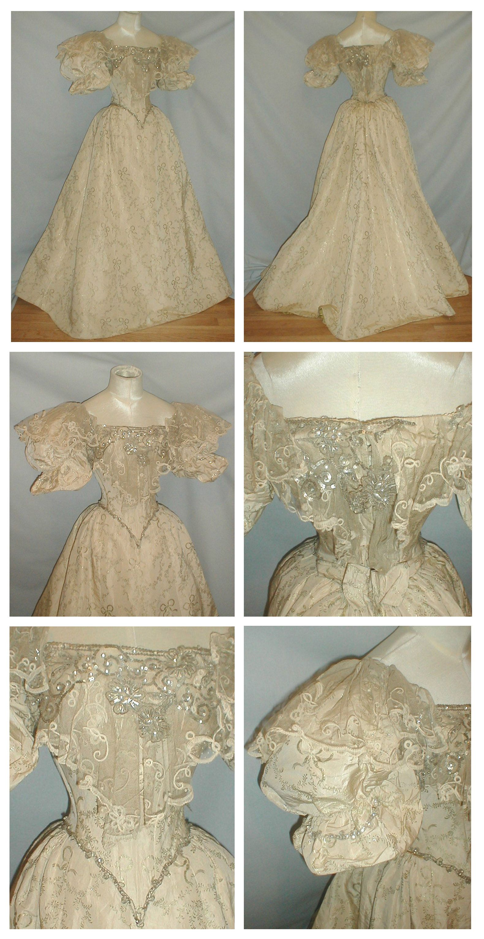 1890\'s Brocade Evening Gown. Ebay: fiddybee   19th Century Clothing ...