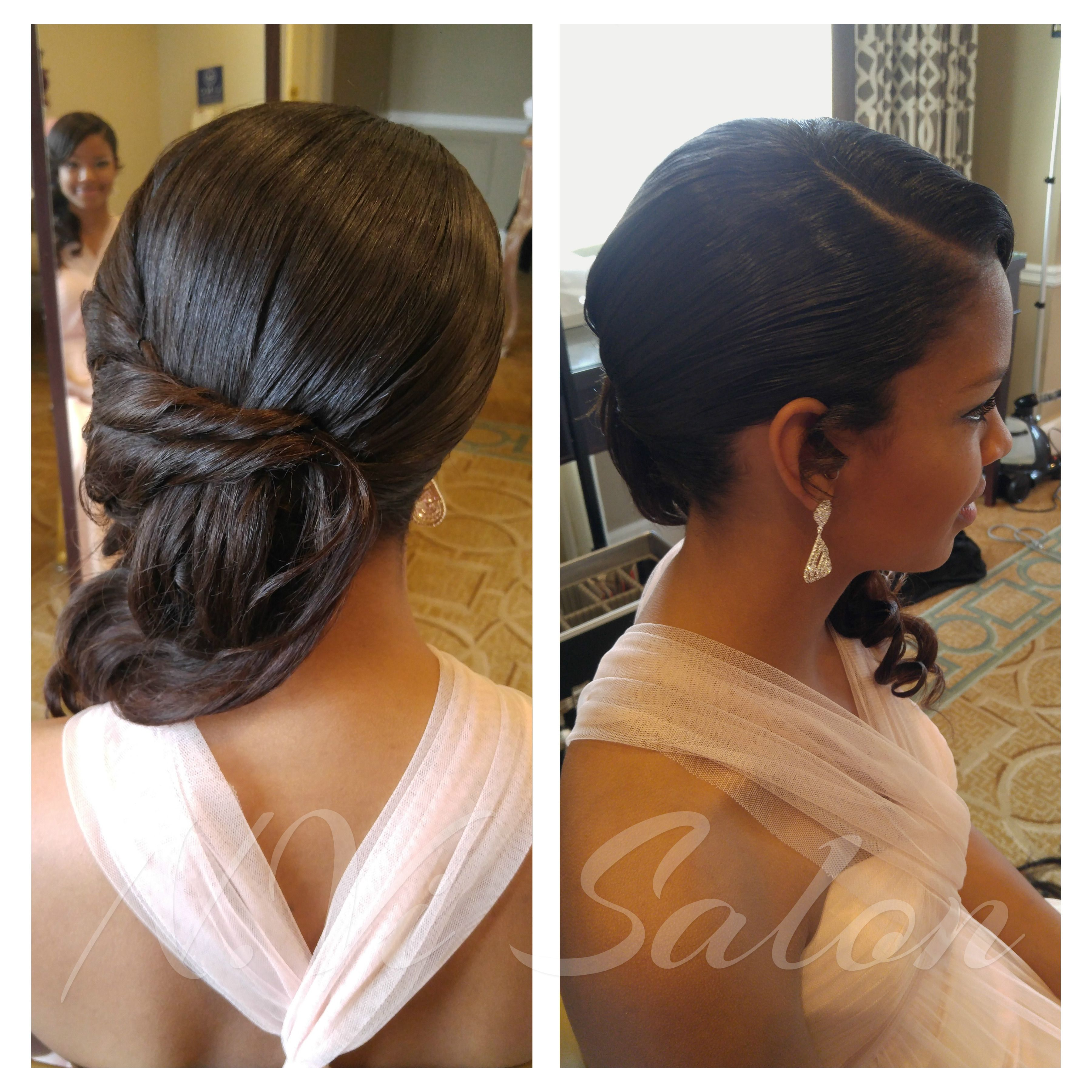 wedding hairstyles. beautiful sew in and style. | beautiful