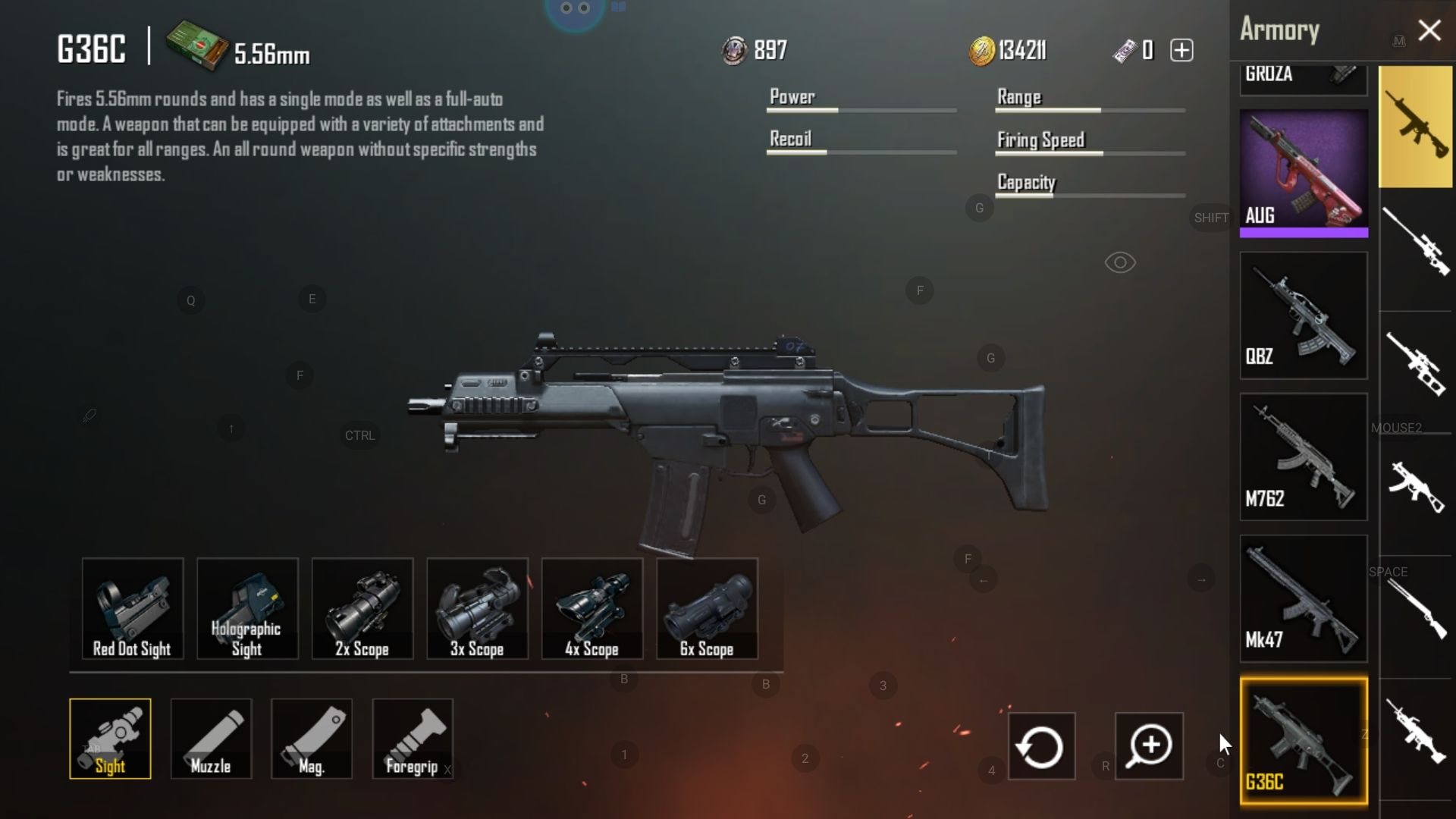 G36C is an Assault Rifle found in Sanhok Map PUBG  Need 5 56 Bullets