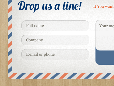 Envelope contact form