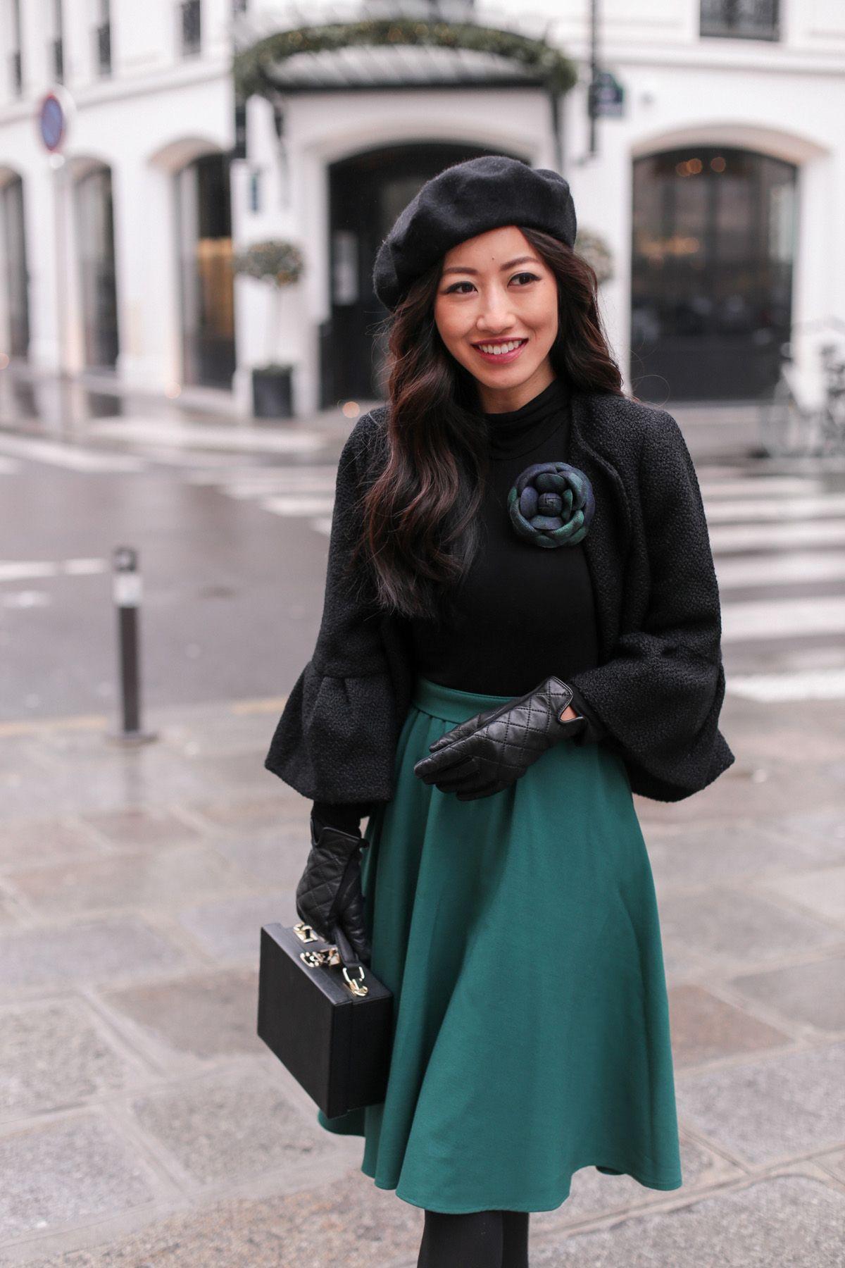 paris style beret hat camellia flower brooch pin e7476c08e4d