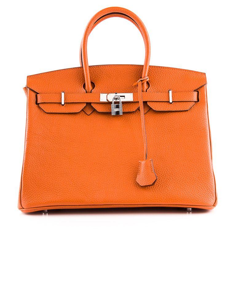 97006c10e2 Classic  Hermès Orange Togo Leather 35 cm Birkin Bag. (TheRealReal.com)