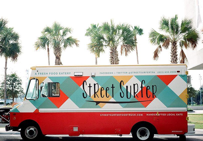 Food truck logoidentity street surfer food truck wrap