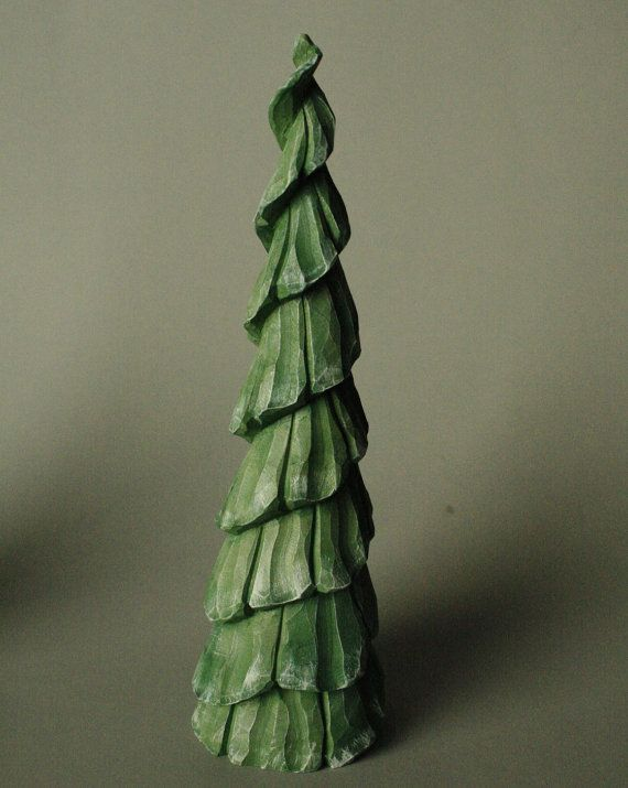 carved wooden christmas tree