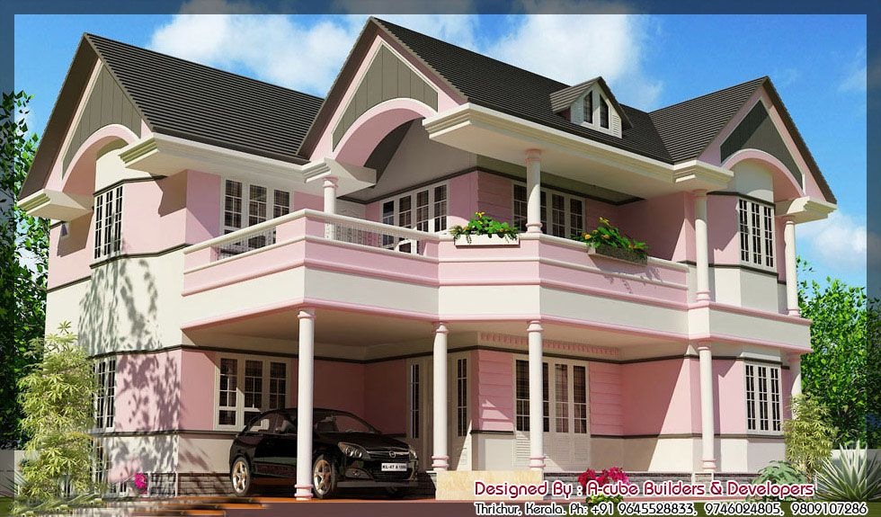 Exterior Floor Plans Pinterest Kerala Villas and House
