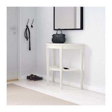 ARKELSTORP Window table - white 80x40x75 cm | White console table, Console table, Window table