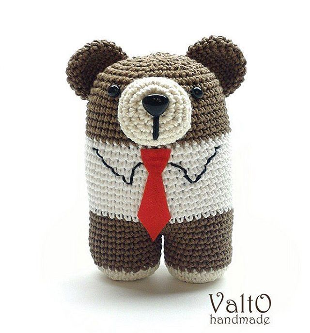 Серьезный Михаил. #амигуруми #мишка #медведь #крючком #игрушка ...