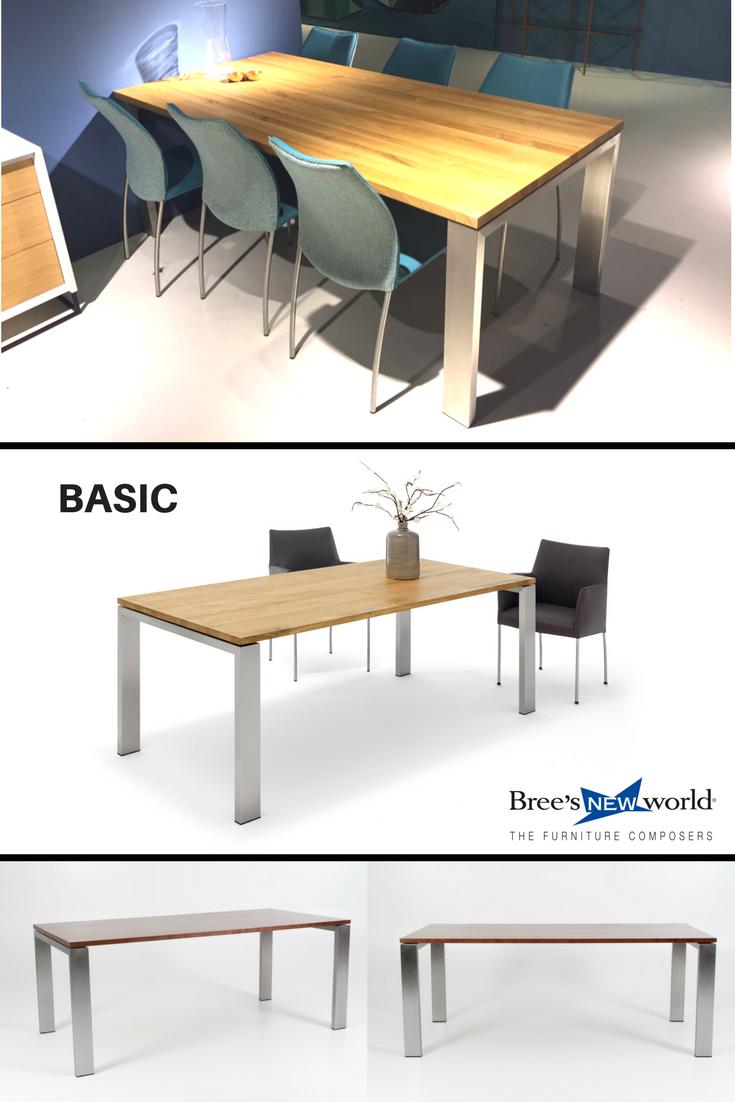 Design Eetkamer Tafel.De Robuuste Design Eetkamertafel Basic Van Bree S New World Is