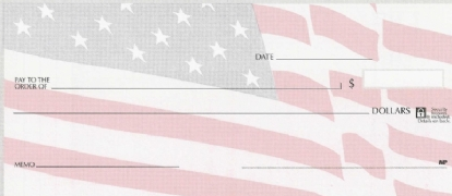 photo relating to Printable Personal Checks identified as American flag individual exams Invest in Exams On line in just 2019