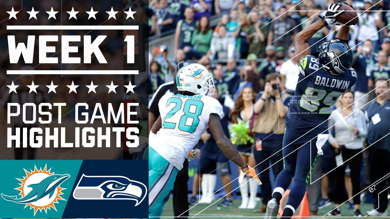 Dolphins vs. Seahawks (Week 1) Post Game Highlights