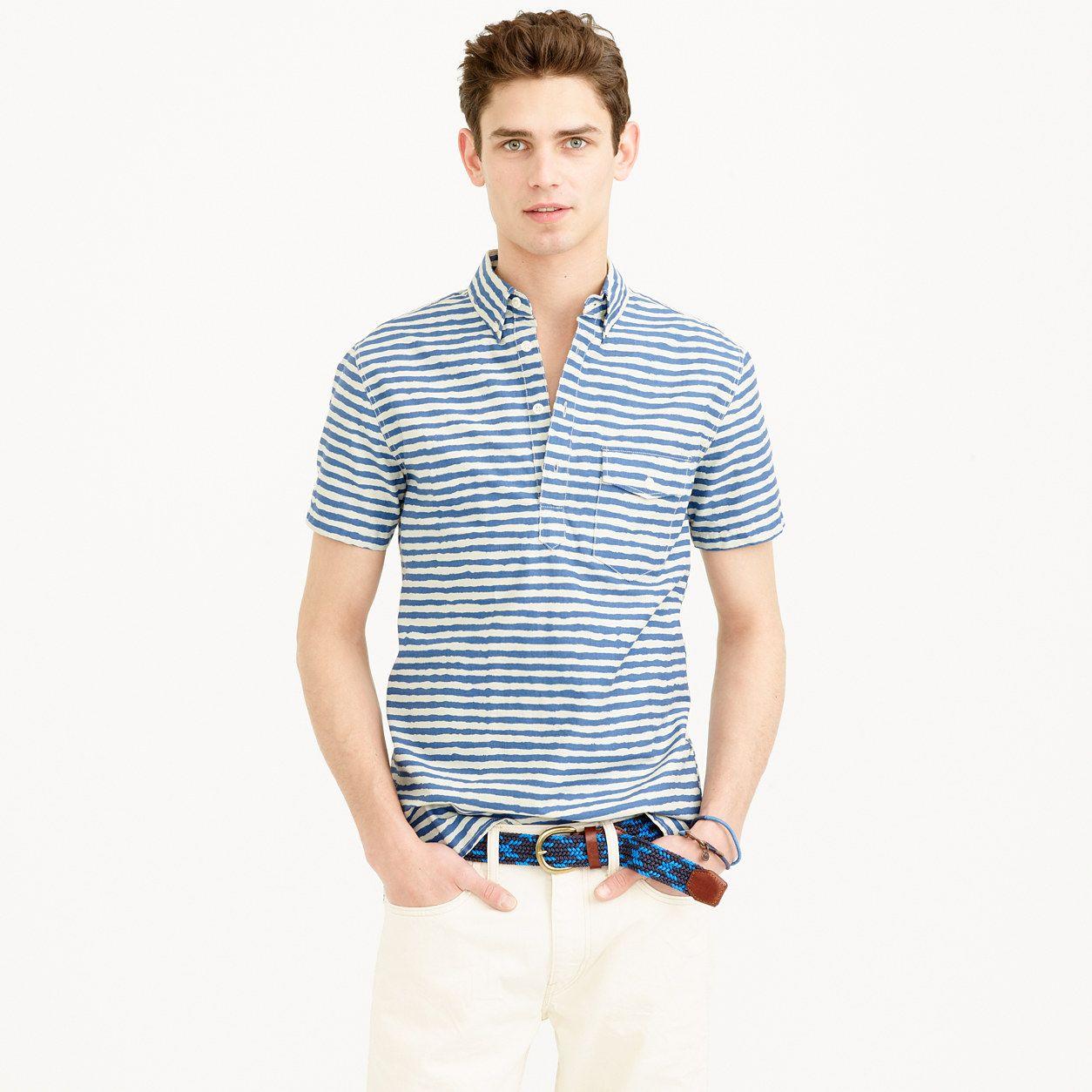 4443ff90c793 Short-sleeve cotton shirt in shibori print : shirts | J.Crew ...